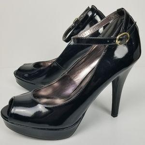Steve Madden Dalya black peep toe heels size 9